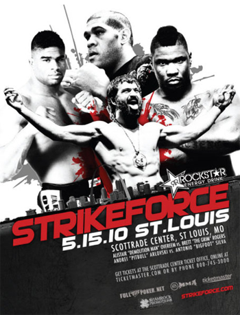 Strikeforce StLouis Poster Heavy Artillary May 15