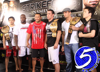 Strikeforce Nashville CBS Media Presser Dan Henderson Jake Shields