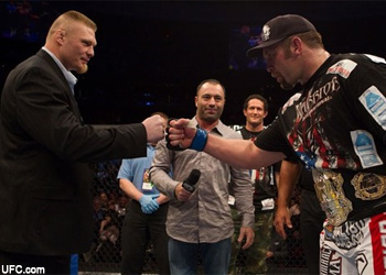 UFC heavyweights Brock Lesnar and Shane Carwin