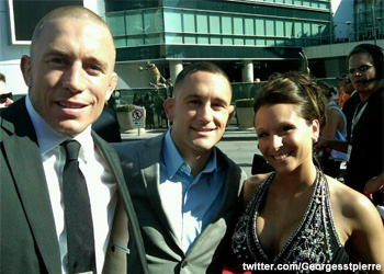 Georges St-Pierre and Frankie Edgar at ESPYs