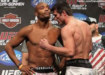 Anderson Silva Chael Sonnen UFC weigh in 117