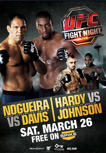 UFC Fight Night Poster 24 Nogueira Davis