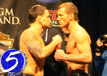 UFC Resolution 125 Frankie Edgar Gray Maynard Staredown