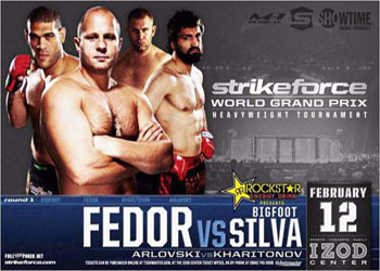 Strikeforce Fedor Silva Arlovski February 12 Poster