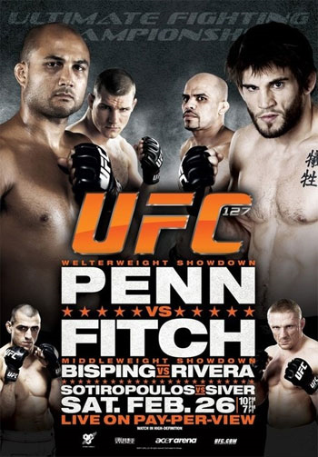 UFC Poster 127 Penn Fitch Bisping Rivera