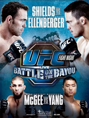 UFC Shields Ellenberger Battle Poster on Bayou