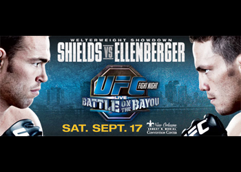 UFC Fight Poster Night 25 Battle on the Bayou Shields Ellenberger