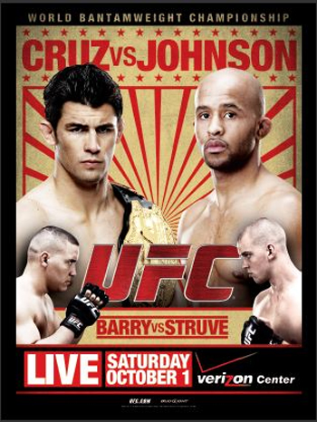 UFC Poster Verus6 Dominick Cruz Johnson Barry Struve