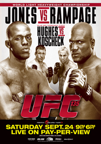 UFC Poster 135 Jon Jones Rampage Hughes Koscheck
