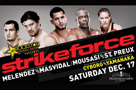 Strikeforce December17 Melendez Mesvidal Mousasi Cyborg