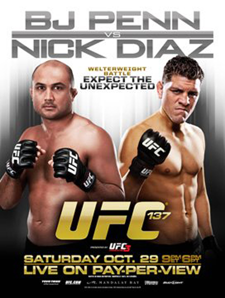 UFC Poster 137 BJ Penn Nick Diaz