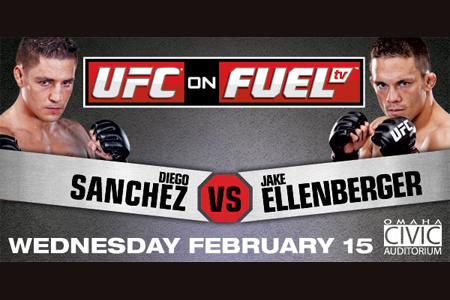 UFC Diego Sanchez Jake Ellenberger Fuel TV Poster