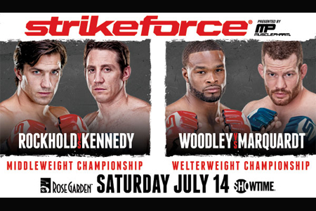 Strikeforce Poster Rockhold Kennedy Marquardt Woodley