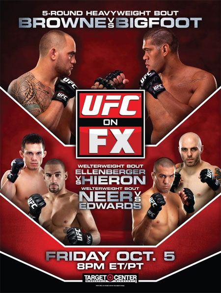 UFC Poser FX 5 Browne Bigfoot Ellenberger Hieron
