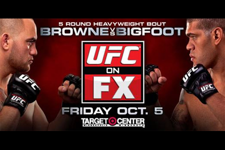 UFC Poster FX 5 Browne Bigfoot