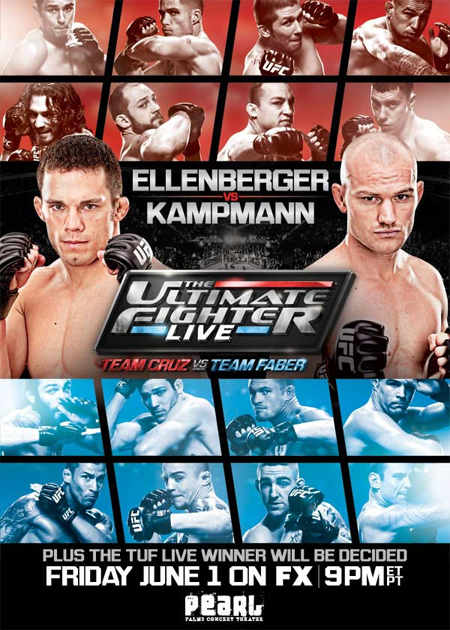 UFC Poster FX Ultimate Fighter Live Ellenberger Kampmann