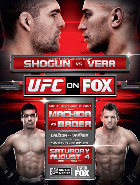 UFC Poster Fox Shogun Vera Machida Bader