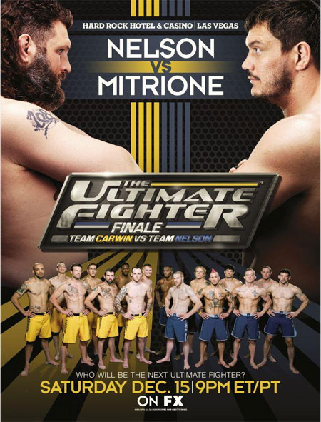 UFC Poster TUF 16 Finale Nelson Mitrione