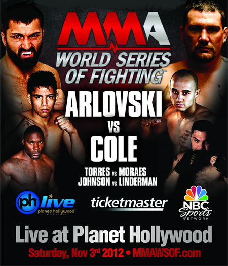 World Series Of Fighting Poster 1 Arlovski Johnson Torres
