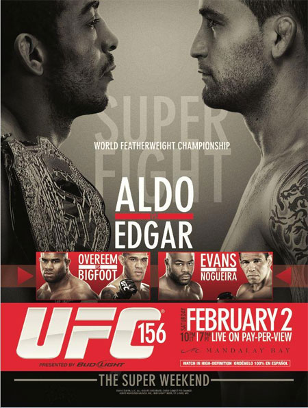UFC Poster 156 Aldo Edgar Overeem Bigfoot