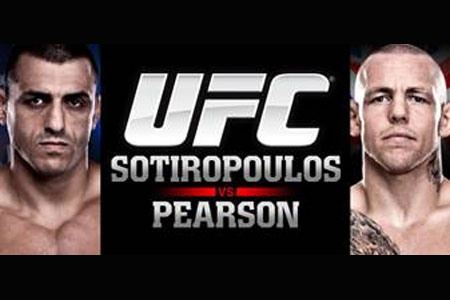 UFC Poster Sotiropoulos Pearson