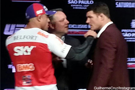 Vitor Belfort Michael Bisping Faceoff