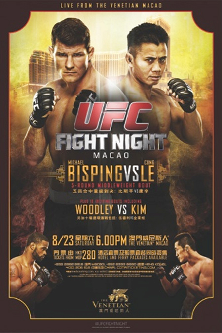 UFC Poster Fight Night Bisping Le