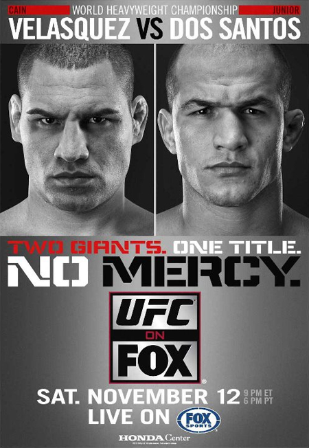 UFC Poster Fox Cain Velasquez Junior Dos Santos
