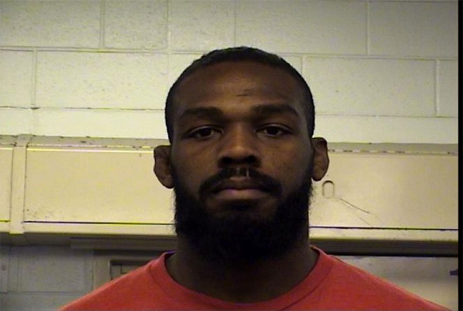 Jon Jones Mug Shot Drag Racing